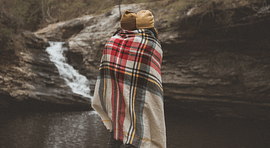 covered by blanket scarf